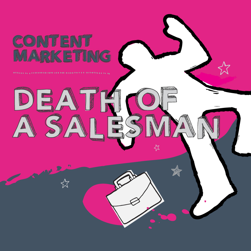 content marketing agency death of a salesman icon