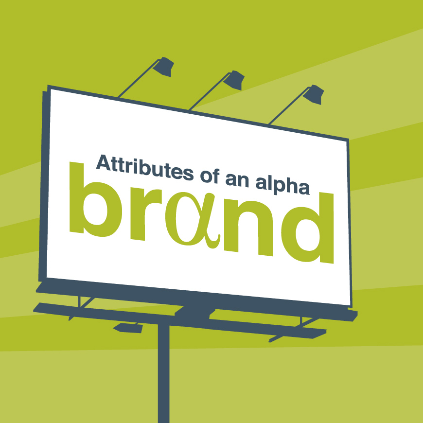 brand attributes alpha brand